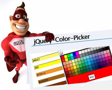 Color Picker jQuery for your web sites - Colour Picker