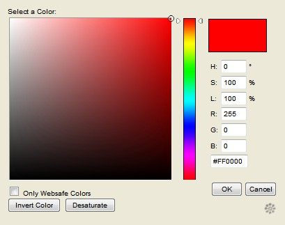 JavaScript Color Picker like photoshop - Color Picker
