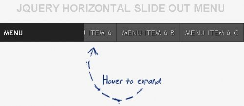 Horizontal Slide Out Menu - UI elements