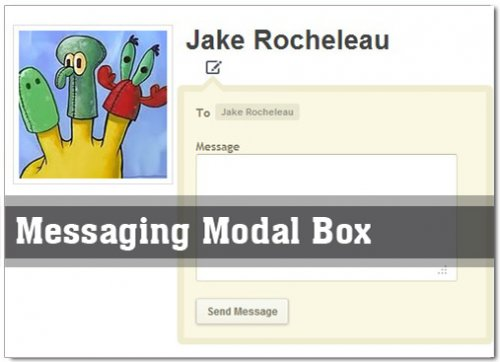 jQuery Private Messaging Modal Box - ModalBox