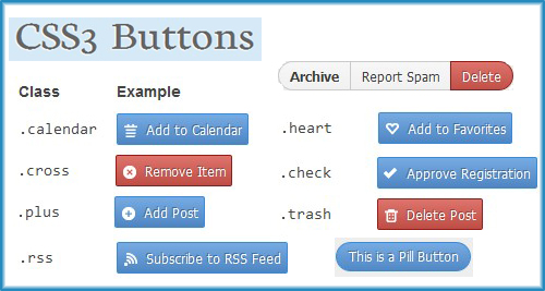 Css3 buttons for websites. - css3 buttons