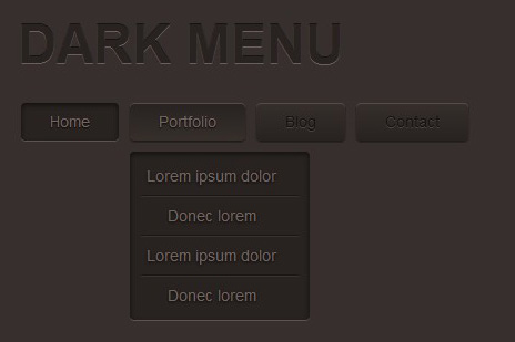 Menú Oscuro con Css3-darkMenu