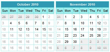 JavaScript Calendar Component - Date picker Calendar