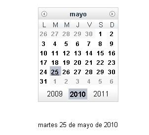 Plugin Dojo Dijit Calendar-dijit.Calendar