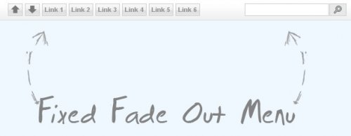 Fixed Fade Out Menu, A CSS and jQuery Tutorial - FadeOutMenu
