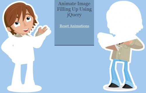 Animate Image Filling Up Using jQuery - FillingImage