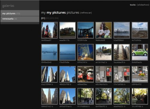 Small and simple php/javascript online photo gallery - minishowcase