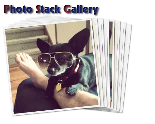 Google plus photo stack effect like google plus - PhotoStack