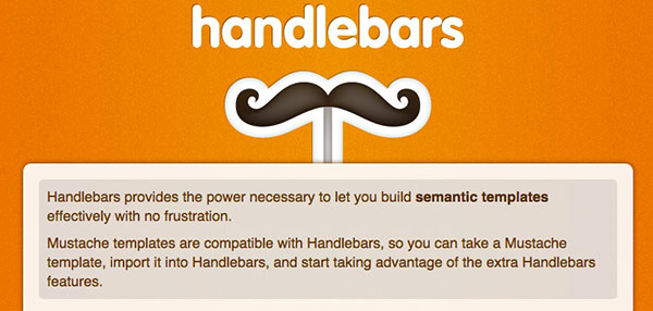 Build semantic templates with javascript - handlebars