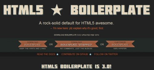 Framework HTML5 to accelerate your development - HTML5 Boilerplate