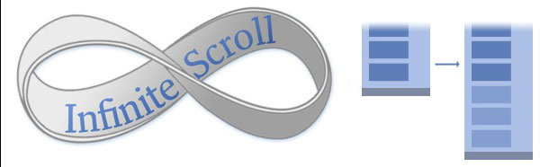 Load content when scroll on a web site - infinite-scroll
