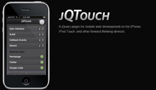 Desarrollo web sobre iphone y ipod touch-jqtouch