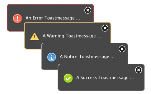 jQuery notification message with android style - ToastMessage