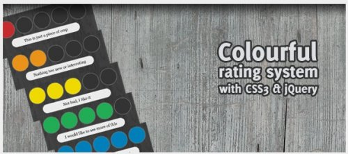 Colourful rating system with CSS3 and jQuery - ColorRating