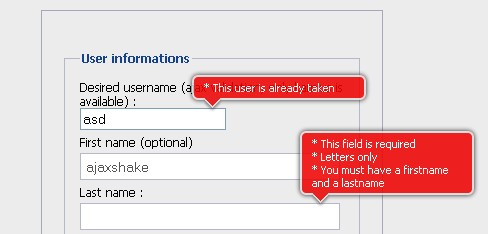 A jQuery inline form validation, because validation is a mess - Inline Form Validation Engine