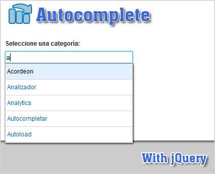 Plugin para autocompletar cuadros de texto con jQuery-Autocomplete