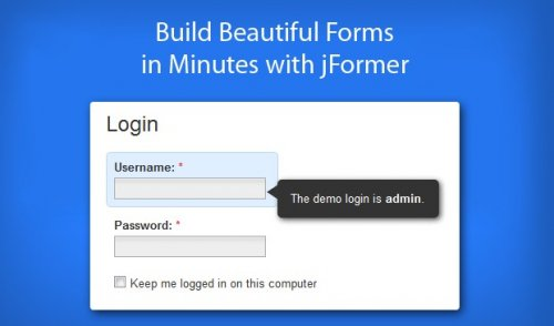 Form framework for jQuery - jFormer