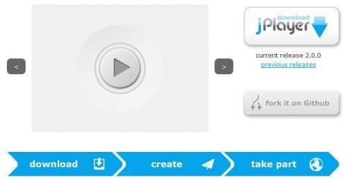 HTML5 Audio and Video jQuery Library - jPlayer
