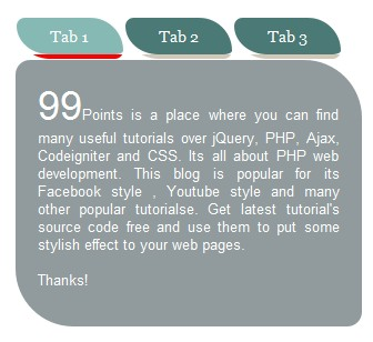 jQuery tabs animated with css - Create Animated Tabs using JQuery and CSS.