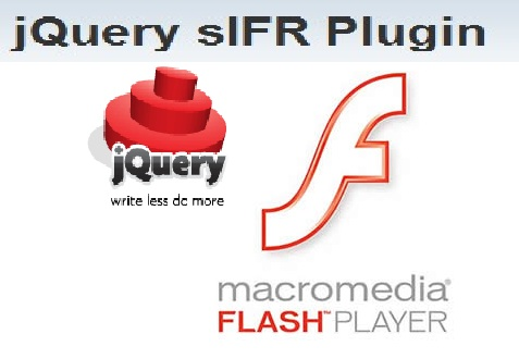 Plugin or addon for jQuery that makes it easy to replace text in web page with flash text - sIFR