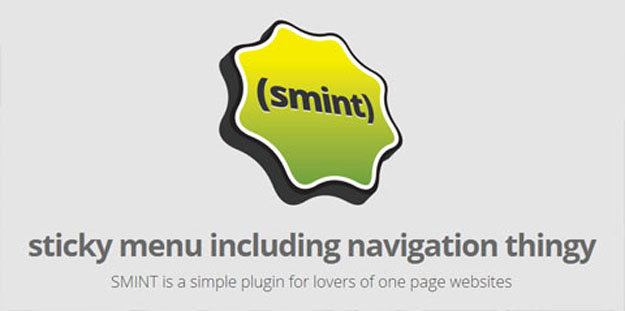 Create a simple menu for one page websites - Smint