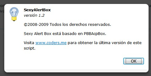 Sexy Alert Box 1.2 - SexyAlertBox