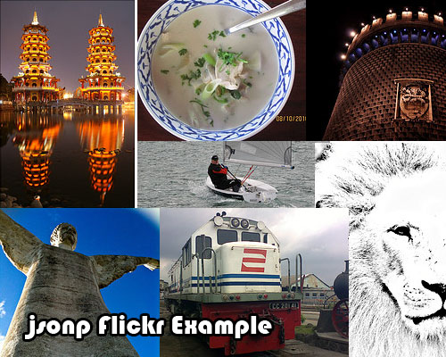 Jsonp flickr Example. - Flickrp