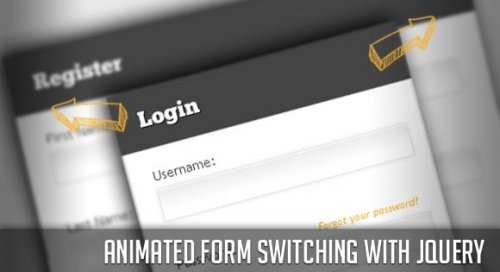 Switch forms with an animation effect using jQuery - AnimatedForms