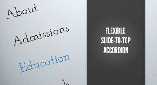 Menú accordeón flexible con jQuery y CSS - FlexibleAccordion