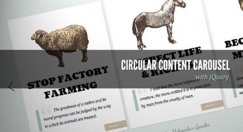 jQuery Circular Content Carousel-CircularContent