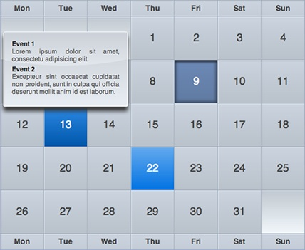 Tutorial jQuery to Create bigs calendars - iCal-like