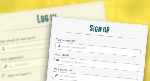 Registration form with html5 and css3 - RegistrationForm