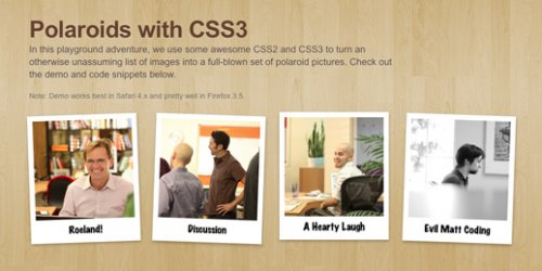 Turn Your Images Into Polaroids with CSS3 - PolaroidsCss3