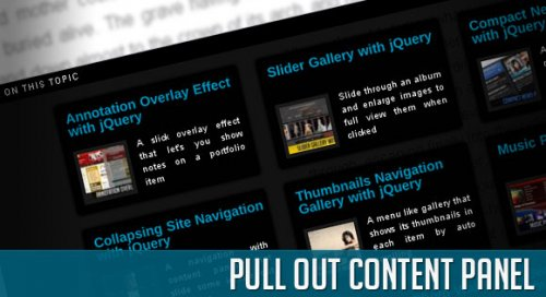 Slide from outside a content panel with jQuery - ContentPanel