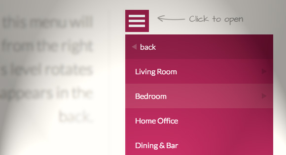 Multi level css3 Menu for web and mobile sites - Multi level menu