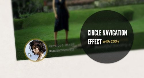 Slider with Circle navigation thumbnails - Circle Menu