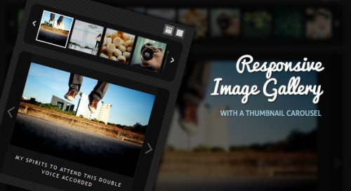 jQuery Image Gallery with Thumbnail Carousel - ImageGallery