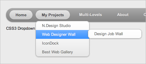 Menu Desplegable Css - CSS3 Dropdown Menu