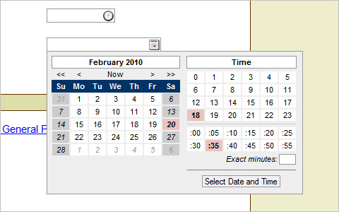 A date-time picker control. Convert a text box in a datetime picker - Date Time Picker