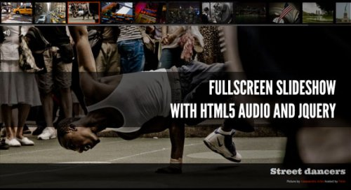 Fullscreen slideshow with jQuery and Html5 - Html5-Gallery