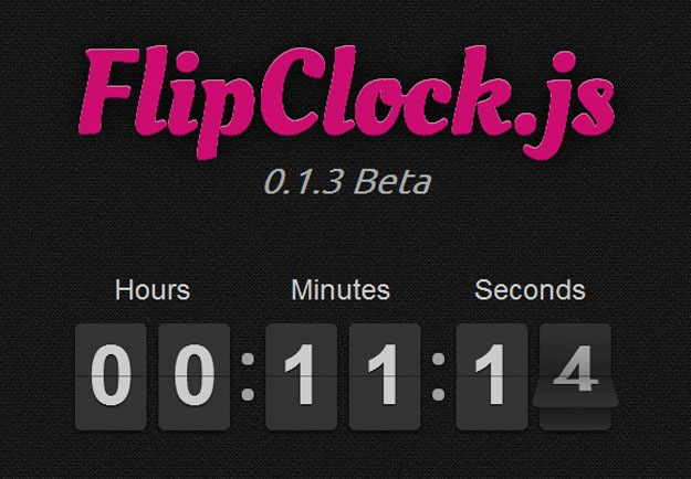 Javascript clock with old style - flipclock