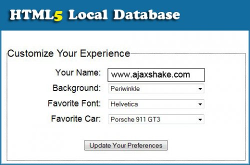 Local Database with HTML5 - HTML5Local
