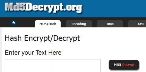 MD5 Decrypt, Online tool-md5Decrypt