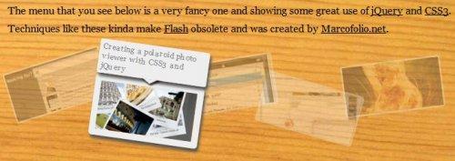Super slick and  funny jQuery menu with CSS3-jSlickMenu
