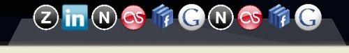 Menú css que aplica efectos a una lista de iconos al pasar el mouse por arriba-Mac css menú
