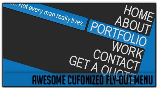 Awesome Cufonized Fly-out Menu with jQuery and CSS3 - Fly-out Menu