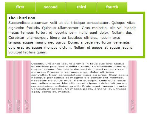 Tabs javascript , menu formado por tabs-MooTabs