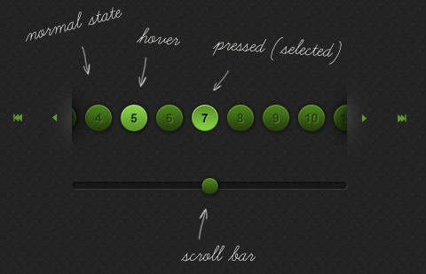 Paginate content using this jQuery animated paginator - jpaginator