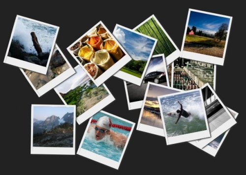 CSS3 polaroid image Gallery With jQuery - Hovering-Gallery