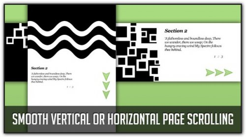 Smooth Vertical or Horizontal Page Scrolling with jQuery - Scrolling page